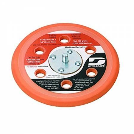Dynabrade Velcro plate, 6 holes, D150 mm, 54.328 model (thin)