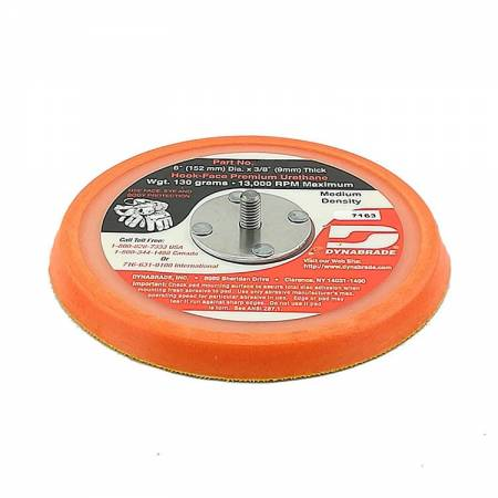 Dynabrade Velcro plate, without holes, D150 mm, 56.158 model (thin soft)