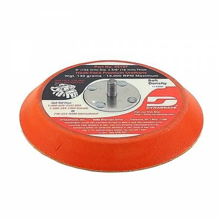 Dynabrade Velcro plate, without holes, D150 mm, 56.182 model (thick)