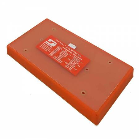 Dynabrade Velcro base, without holes, 93 x 172 mm, 57.851 model
