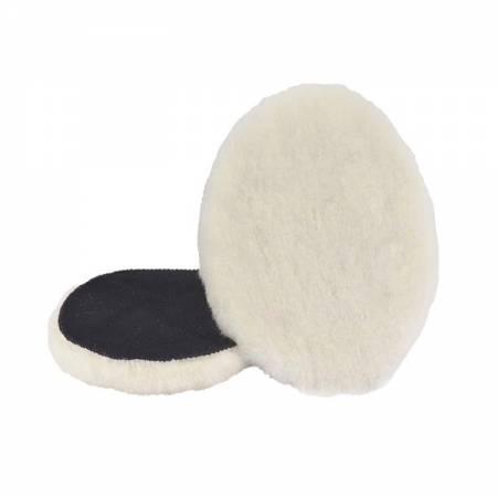 Box of 2 wool polishing caps Velcro, D135 mm